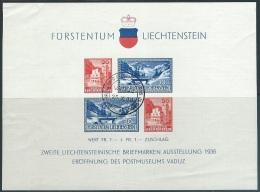Liechtenstein  1936  Sc#B14  Museum Souv Sheet  Used  2016 Scott Value $50 - Liechtenstein