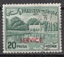 O84 Pakistan 1970 OFFICIAL STAMPS Overprint Surcharged  SERVICE Red Viaggiati Used - Pakistan