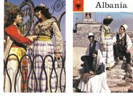 ALBANIE---ALBANIA--kostume Popullore Nga Shqiperia E Mesme--folk Costumes Of Central Albania---voir 2 Scans - Albanie