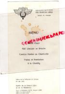 87 - LIMOGES- GUERRE 1939-1945- MENU FRANCE LIBRE RESISTANCE- JACQUES JUILLET PREFET- 1966-PREFECTURE - Menus