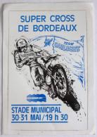 Autocollant Rare Super Cross De Bordeaux 1984 Team Gauloises MOTO - Autocollants