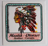 Autocollant CANADA Mashk Okwari Québec Indien - Autocollants