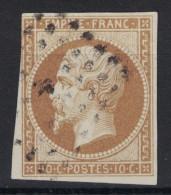 BELLE NUANCE Bistre Pour Ce N°13 Oblitéré SANS PLI NI AMINCI (oblitération Pc ?) - 1853-1860 Napoléon III.