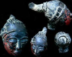Ancienne Tête De Déesse Birmane  / Old Burmese Nat Goddess Head - Archéologie