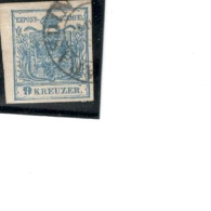 """Austria1850:Michel 5 Used """"T""""in """"POST""""is Almost A """"P""""(see Ferchenbauer's Specialized Catalogue) - 1850-1918 Imperium"""