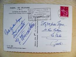 Post Card Sent From France 1958 Atm Machine Special Cancel Telegrammes De Luxe Paris En Flanant - France