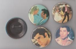 Lot 6 Badges John Travolta  1980  Grease - Objets Dérivés