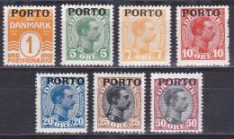 Danemark - Taxe N° 1 à 7 Luxes (MNH) - Cote 212,50 Euros - Prix De Départ 40 Euros - Port Dû (Taxe)