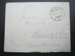 1918 , KROTOSCHIN   , Klarer Stempel Auf  Beleg , Mit Truppensiegel - Brieven En Documenten