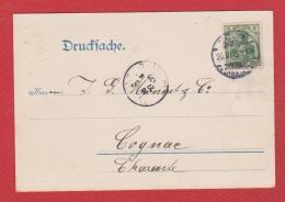 Allemagne    --  Drucksache Pub Henkell Trocken De Koln    --  Pour Cognac --  Aout 1905 - Stamped Stationery