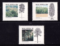 Malaysia 1992 Tropical Forests - Trees Set Of 3 MNH - Malaysia (1964-...)