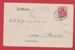Allemagne    -- Postkarte  Pub Schonberger Sect De Berlin  --  Pour Cognac --  31 Dec 1903 - Ganzsachen