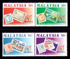 Malaysia 1992 Stamp Exhibition - 125 Years Set Of 4 MNH - Malaysia (1964-...)