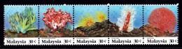 Malaysia 1992 Corals Strip Of 5 MNH - Malaysia (1964-...)