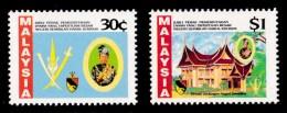 Malaysia 1992 Silver Jubilee Negeri Sembilan Set Of 2 MNH - Malaysia (1964-...)