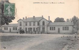87-LAURIERE- LA MAIRIE ET LES ECOLES - Lauriere