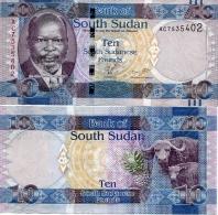 SOUTH SUDAN     10 South Sudanese Pounds    P-7    ND (2011)    UNC  [ Sud - Sur ] - Sudan Del Sud