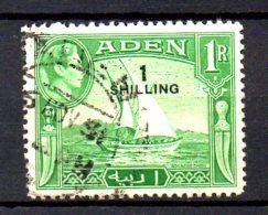 T390 - ADEN ,  1 Scellino Su 1  Rupia Usato - Aden (1854-1963)