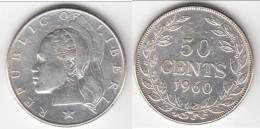 **** LIBERIA - 50 CENTS 1960 - ARGENT - SILVER **** EN ACHAT IMMEDIAT !!! - Liberia