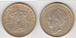 **** CURACAO - PAYS-BAS - NETHERLANDS - 2 1/2 GULDEN 1944 D WILHELMINA - ARGENT - SILVER **** EN ACHAT IMMEDIAT - Curaçao