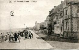 N°350 F -cpa Villers Sur Mer -la Digue- - Villers Sur Mer