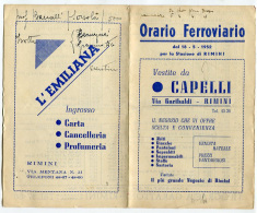 ORARIO STAZIONE FERROVIARIA RIMINI ANNO 1952 - Europa