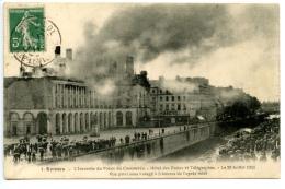 Rennes - L´Incendie Du Palais Du Commerce - Hôtel Des Postes Et Télégraphes - Le 29 Juillet 1911 -Vue Prise Sous L'orage - Rennes