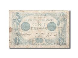 France, 5 Francs, 5 F 1912-1917 ''Bleu'', 1916, 1916-10-10, KM:70, TB, Fayett... - 1871-1952 Anciens Francs Circulés Au XXème