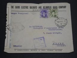 EGYPTE - Enveloppe Pour La France En 1942 Avec Contrôle Postal - A Voir - L 1942 - Covers & Documents