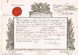 Conge  Militaire Infanterie Regiment D' ???1772  Montmedy - Documents