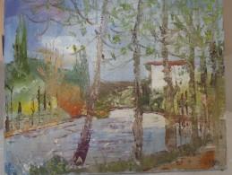 "ULYSSE JEAN PAUL (1925-2011) HUILE SUR TOILE ""L'OISE A EPLUCHES"" - Huiles"