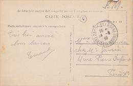 LONGUEVILLE Gare (77) - 14/08/1939 - Franchise Militaire- T84 - Carte Postale Provins - 1921-1960: Période Moderne