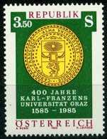 Österreich - Michel 1799 - ** Postfrisch (E) - 400 Jahre Uni Graz - 1981-90 Nuovi & Linguelle
