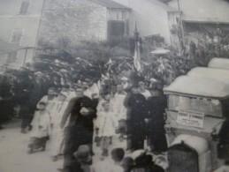 CPA 55 Meuse Marbotte Oeuvre Du Souvenir 27/07/1923 Le Cortège Se Rend Au Monument Du 29ème R.I. - Autres Communes
