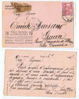 TRENTO - PIETRO LAZZERI - STABILIMENTO FIORICULTURA CARTOLINA AUTOGRAFA - 1909 - Trento
