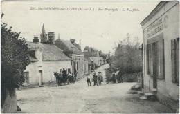 Maine Et Loire, Ste Gemme Sur Loire, Rue Principale, Belle Carte Animée - France