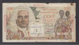ANTILLES FRANCAISES - 1 NOUVEAU FRANCS / 100 FRANCS La Bourdonnais - 1961 Pick.1 - Guyane Française