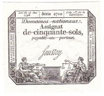 ASSIGNAT 50 SOLS Du 23 MAI 1793 Série 2710 * NEUF (A) - Assignats & Mandats Territoriaux