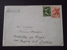 ZAANDAM (Pays-Bas) - Courrier Timbrée En ESPERANTO  - Pour NADAILLAC-de-ROUGE (Payrac, Lot) - A Voir ! - Stamps