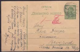 8135. Yugoslavia 1946 Occupational Card, Used Too Late And Traveled 25.XI.1946. - 1945-1992 Sozialistische Föderative Republik Jugoslawien