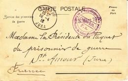 Accusé De Réception D´un Colis Par Un Prisonnier De Guerre à Ohrdruf Adressé Au Paquet Du Prisonnier De Guerre - Guerre De 1914-18