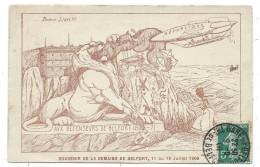 CPA - SOUVENIR DE LA SEMAINE DE BELFORT, 11 Au 18 JUILLET 1909 - Circulé 1909 - France