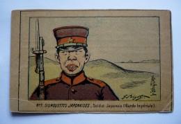 Carte Ancienne - No 1 - SILHOUETTES JAPONAISES -- Soldat Japonais (garde Impériale) - Non Classés