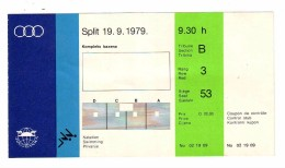 TICKET, Mediterranean Games - MIS 1979 SPLIT MEDITERANSKE IGRE, SWIMMING, PLIVANJE - Eintrittskarten