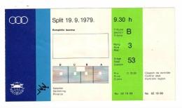 TICKET, Mediterranean Games - MIS 1979 SPLIT MEDITERANSKE IGRE, SWIMMING, PLIVANJE - Tickets - Entradas