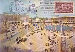 D25487 CARTE MAXIMUM CARD 1958 USA - WORLD EXPO BRUSSELS CP ORIGINAL