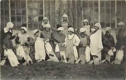 """-ref- L705- Allier - Gannat - Carte Photo Faucheux - Theatre - Acteur - Acteurs -"""" Les Cancans Du Lavoir """"- 8 Mars 1927 - Francia"""