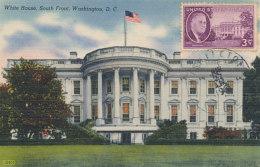 D25492 CARTE MAXIMUM CARD 1951 USA - WHITE HOUSE SOUTH FRONT WASHINGTON CP ORIGINAL - Architecture