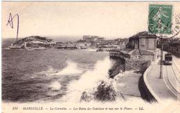 Marseille La Corniche Les Bains Des Catalans Et Vue Sur Le Pharo - Endoume, Roucas, Corniche, Playas