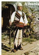 ALBANIE---ALBANIA--Kostum Popullor Shkodran--shkodra Folk Costume---voir 2 Scans - Albania